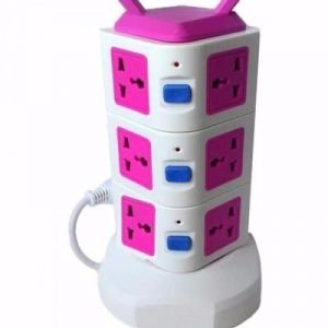 12 Way Extension With Power Surge Socket